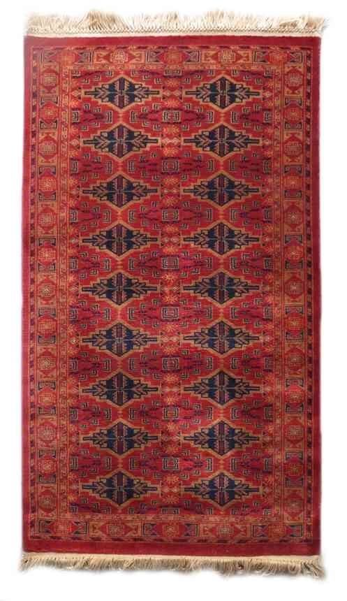 Antique Red Hand Knotted Wool Rugs