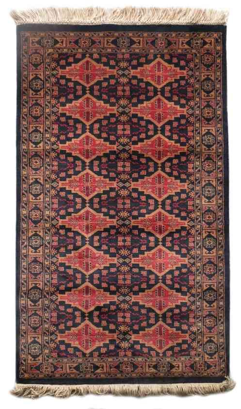 Beauty Black Wool Handmade Rug From India