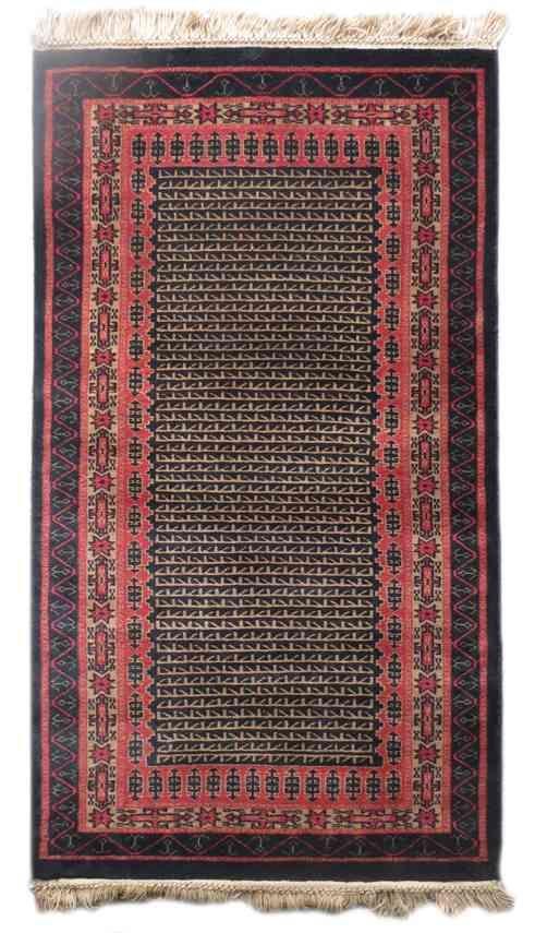 Black Maroon Handmade Indian Rug