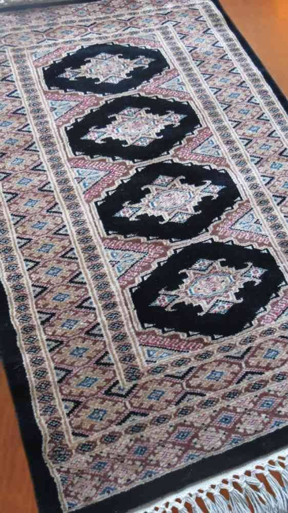 Blue Hand Knotted  Wool Carpet