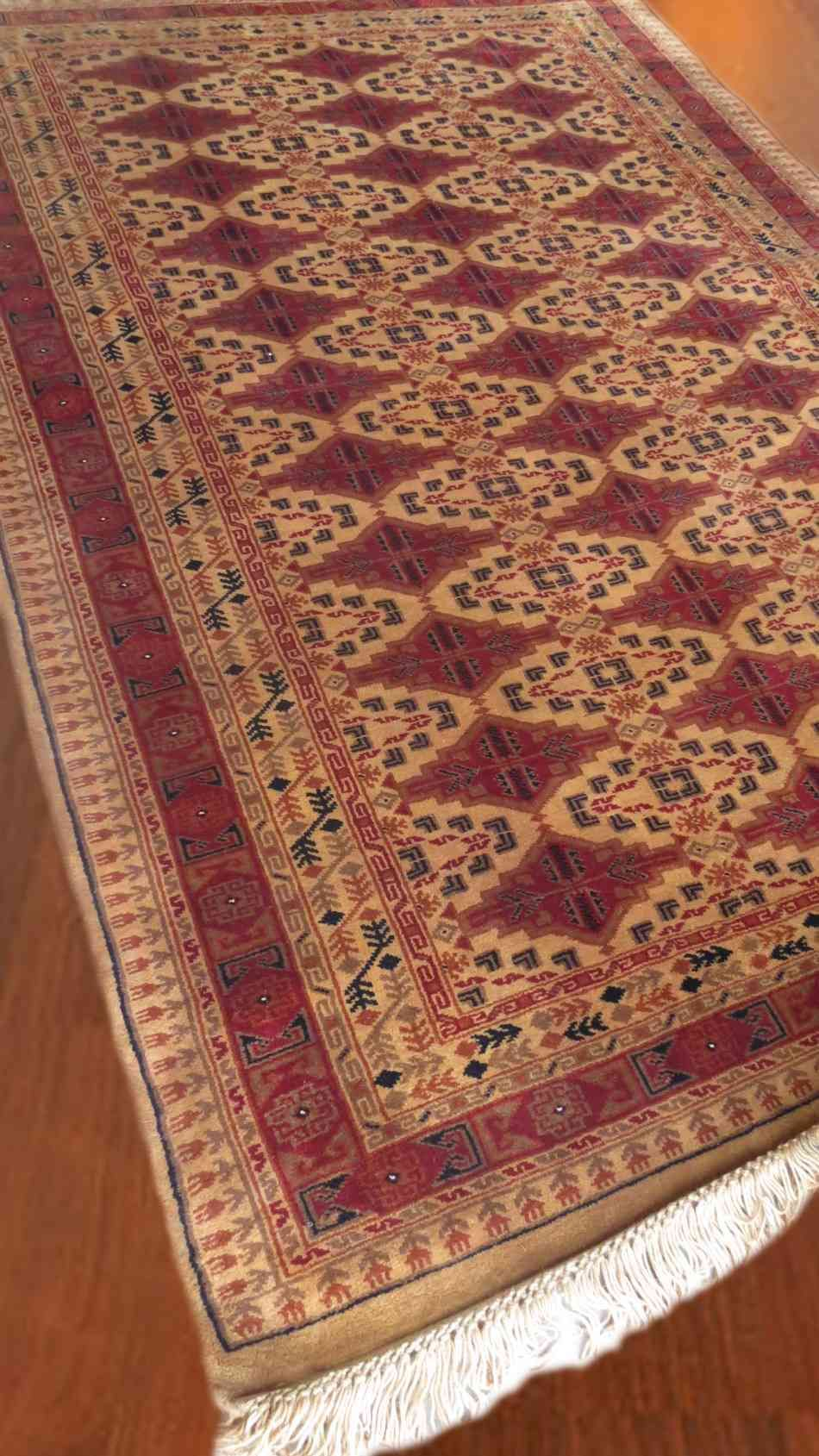 Camel & Maroon Handknotted Tribal Rugs