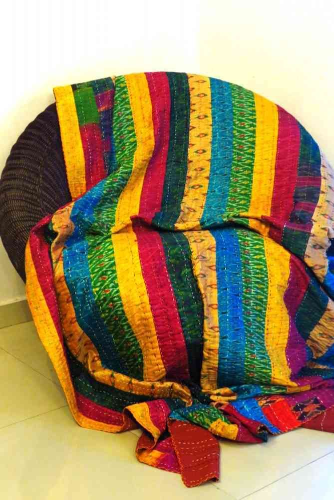 Cotton Patch Work Kantha Throws