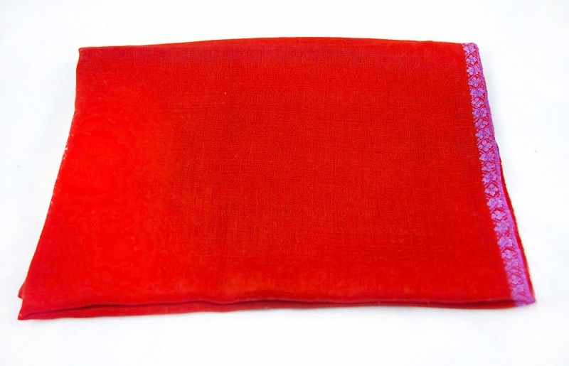 Red Hand Embroidered Pashmina Scarf