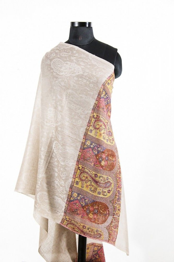 Jacquard Frontier Rust Cashmere Scarves For Women