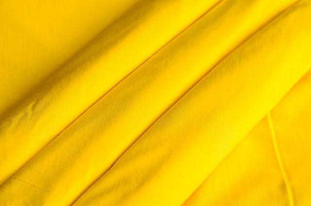 Lemon Yellow Solid Cotton Fabric