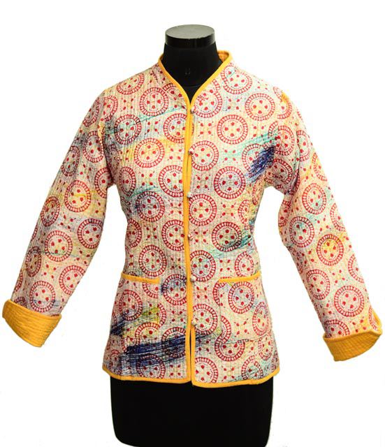 Brush Paint Quilted Jackets Women