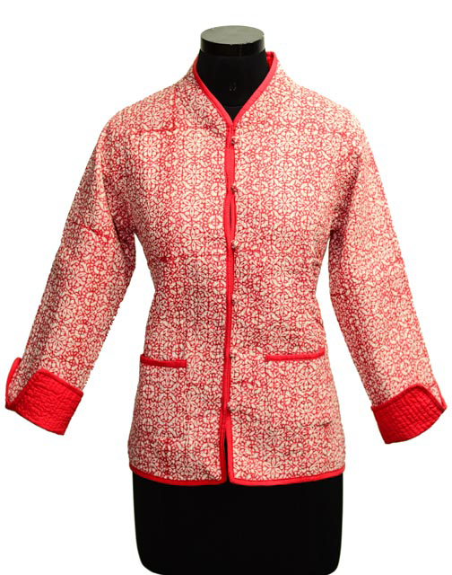 Pink Quilted Cotton Jackets Women