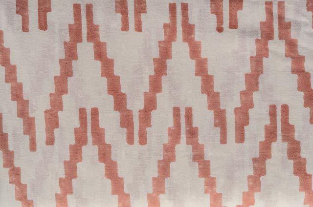 Pinkish Peach Cotton Upholstery Fabric