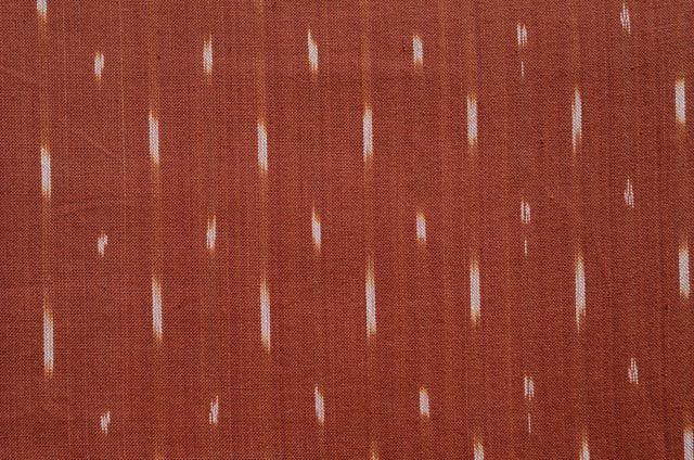 Pumpkin Orange Ikat Fabric By The Yard