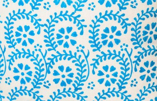 Sky Blue Hand Block Print Cushions