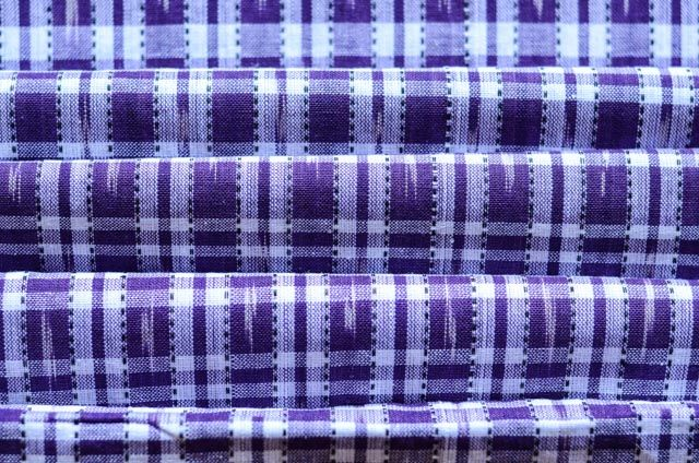 Purple And White Ikat Fabric Online