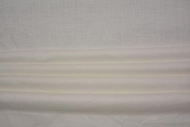 Milky White Indian Linen Fabric