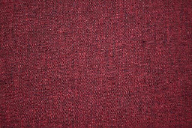 Blackish Maroon Indian Linen Fabric