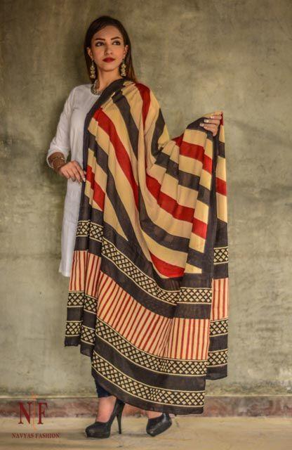 Bagru Print Cotton Dupatta