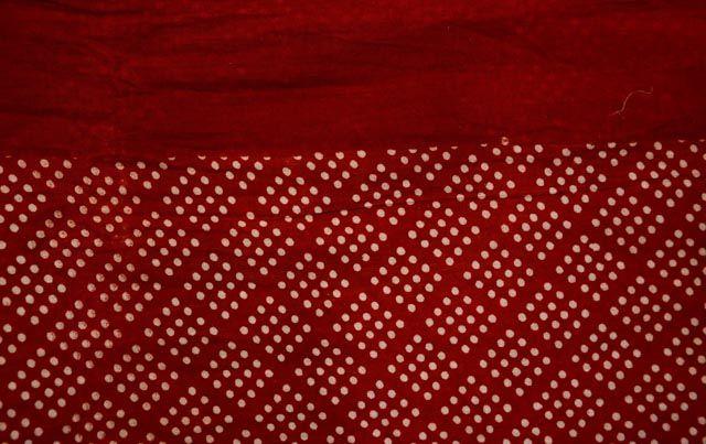 Red Bagru Block Printed Pareo Sarong