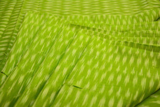 Green Fine Ikat Fabric Online