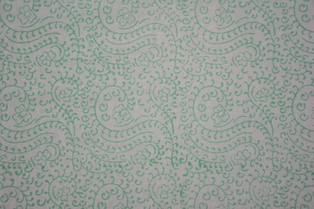 Soft Green Designer Cotton Fabric