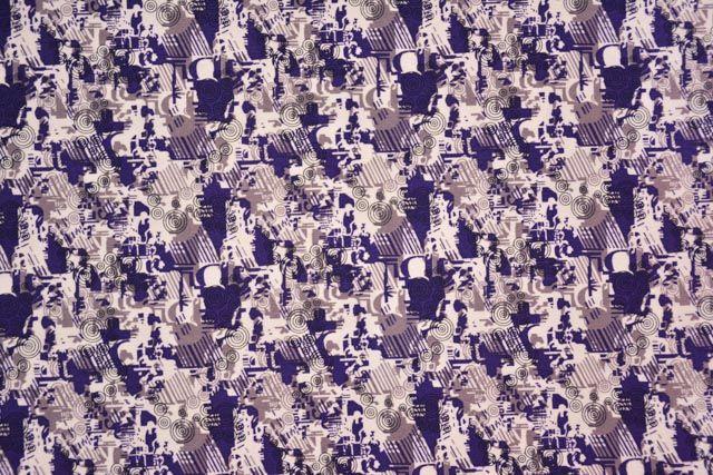 Digital Print Cotton Satin Fabric
