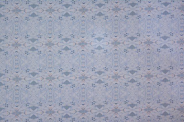 Abstract Pattern Digital Print Cotton Satin Fabric