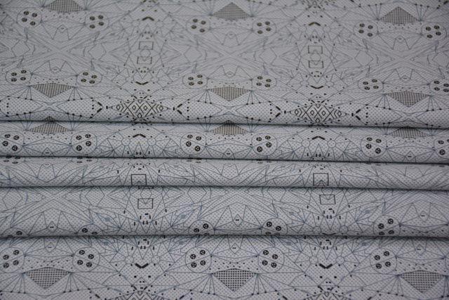 Abstract Pattern Digital Print Satin Cotton Fabric