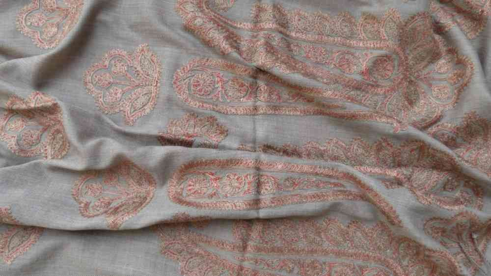 Earthy Brown Paisley Scarf