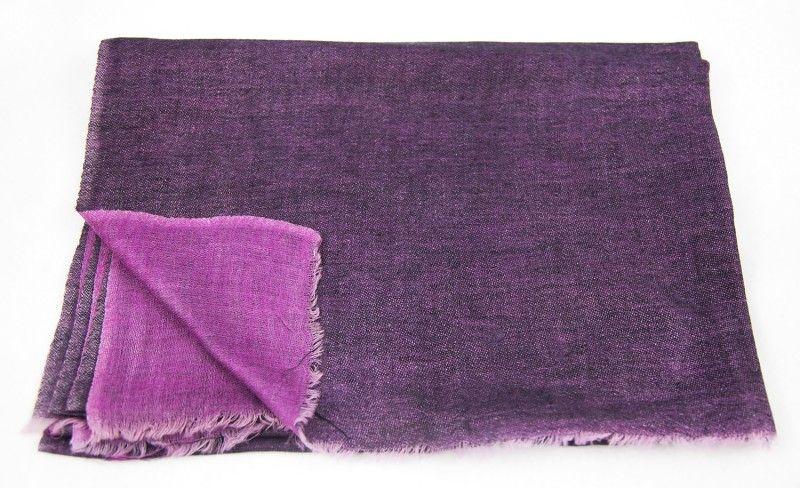 Double Sided Purple Pashmina Scarf