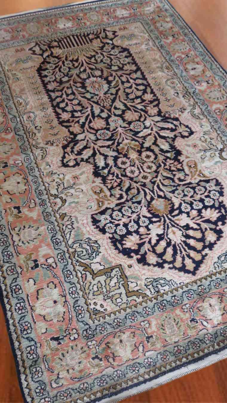 Garden Of Kashmir Silk Rug From India