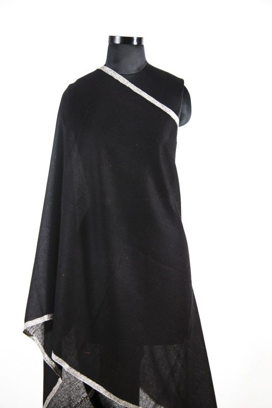 Beauty Black Embroidered 100 Pashmina Scarf