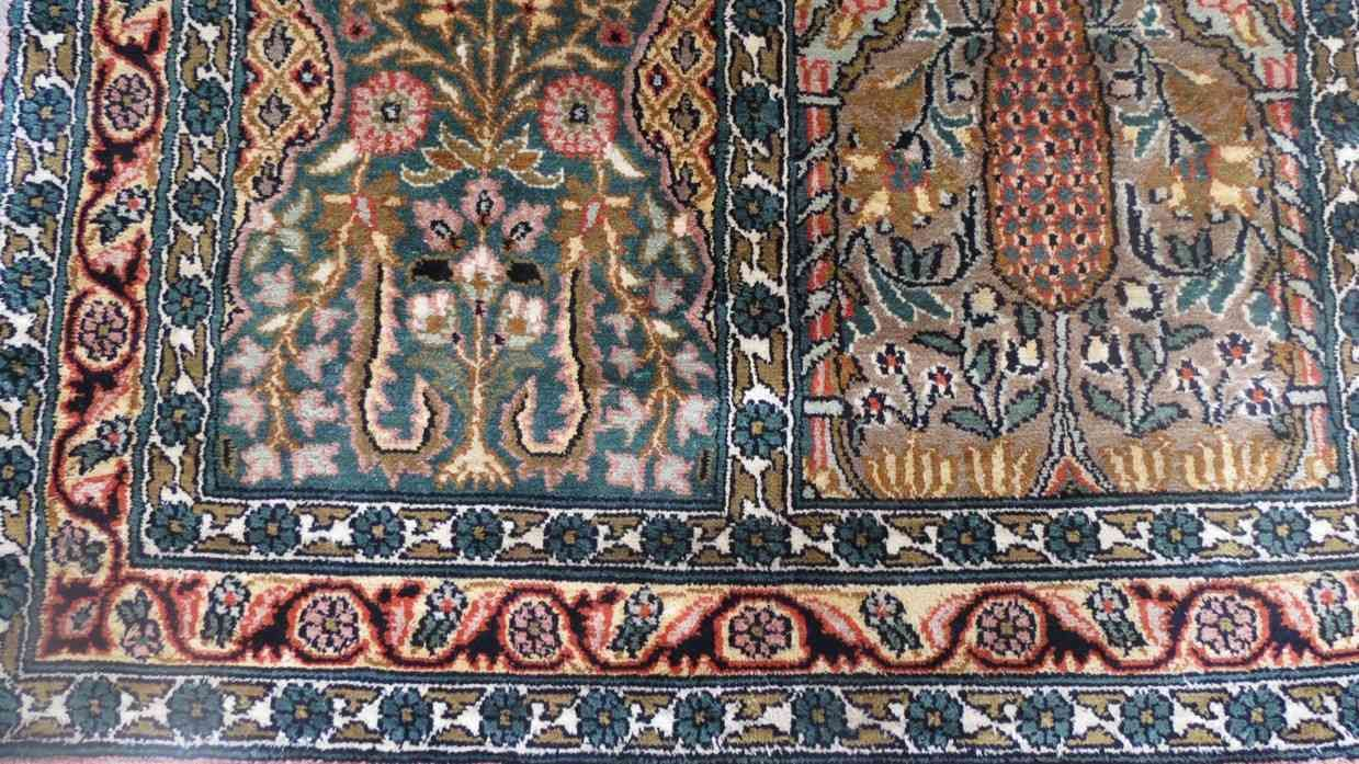 Hamadan Design Pure Silk Carpet