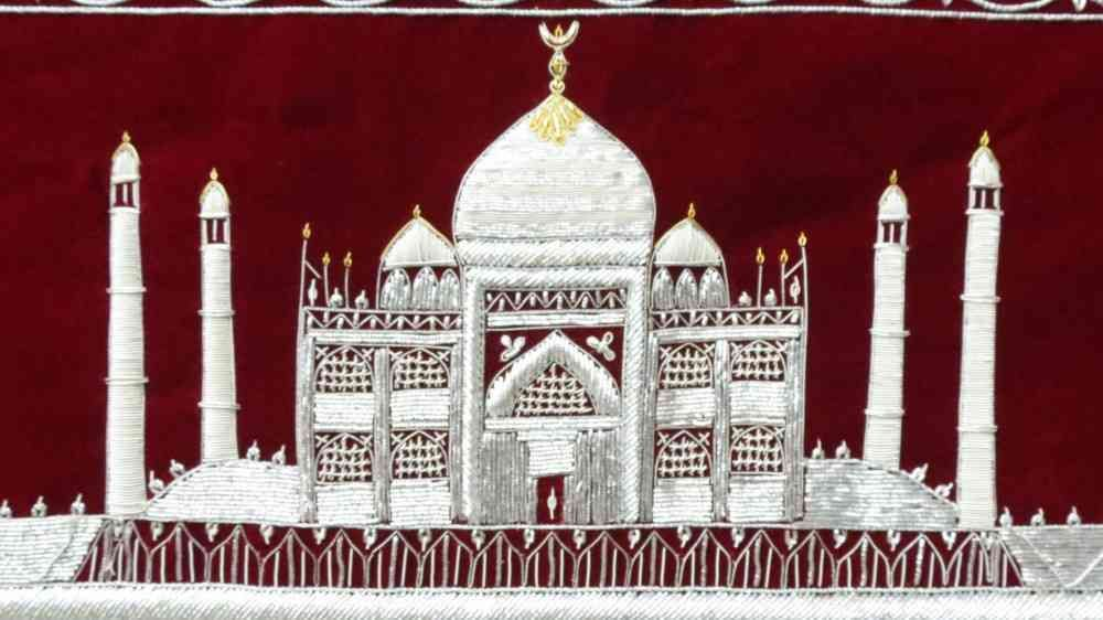 Hand Embroidered Tajmahal Indian Wall Hangings