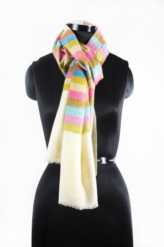 Multi Colored Plaid Pashmina Scarves