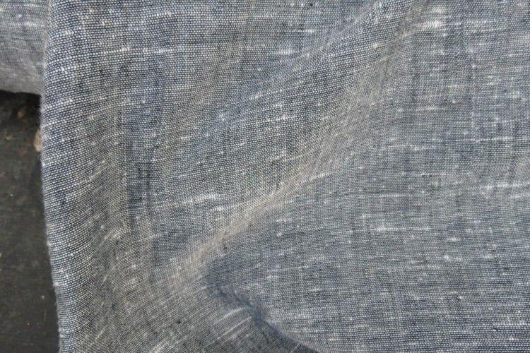 Elegant Grey Handmade Indian Cotton Fabric