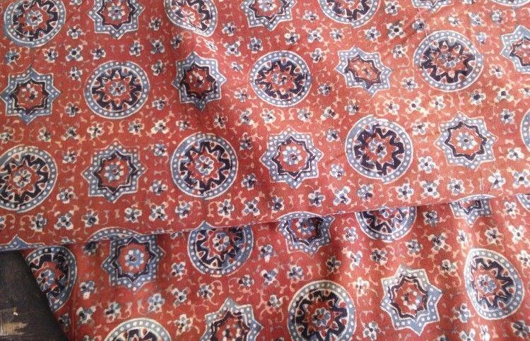 Ajrakh Print Fabric By The Yard