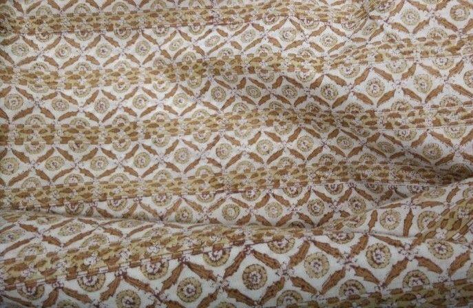 Mughal Design Indian Block Print Fabric