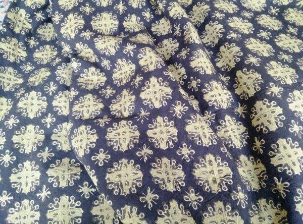 Floral Ajrakh Fabric Online