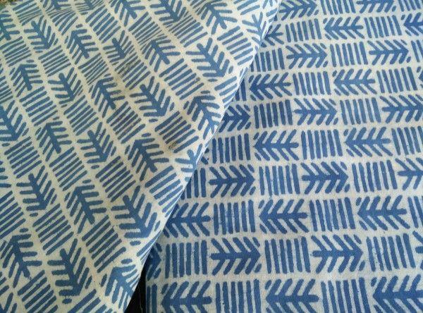 Tribal Design Block Printed Cotton Fabric