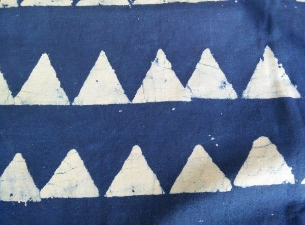 Triangle Block Prints Indian Cotton Fabric