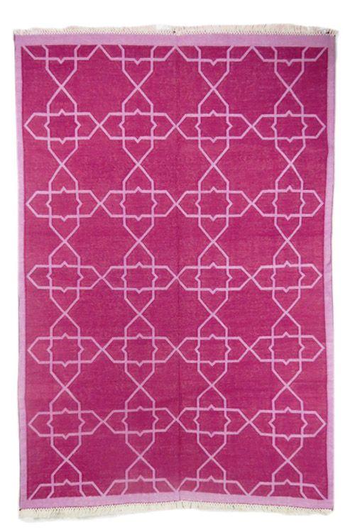 Modern Design Indian Dhurrie Rug