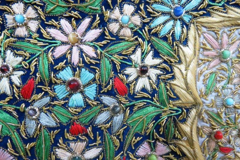 Handmade Zardozi Royal Jewel Carpet