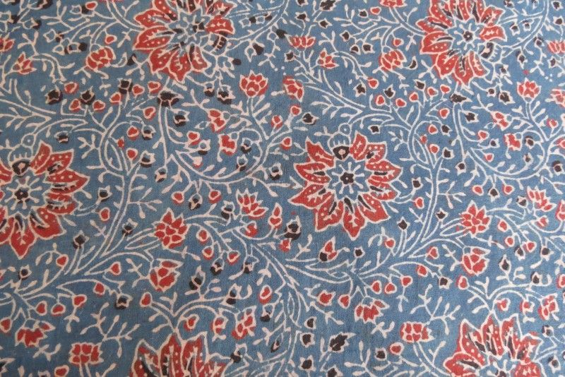 Ajrakh Block Printing Fabric