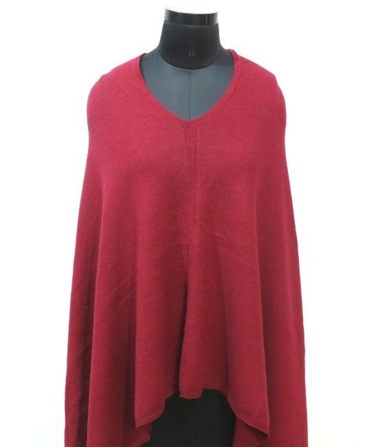 Salsa Red Kashmir Wool Poncho