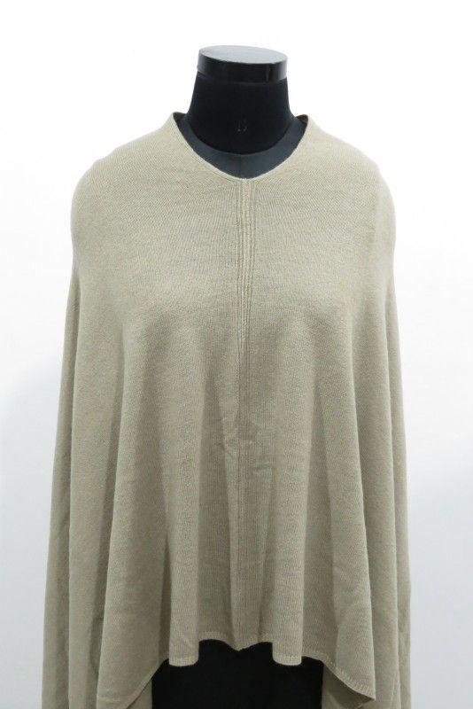 Beauty Beige Kashmir Wool Poncho