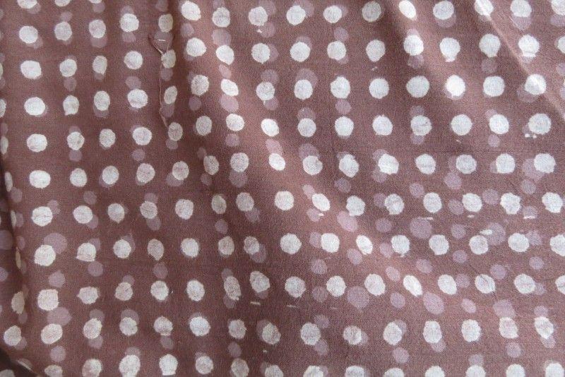 Hand Block Print Sand Dots