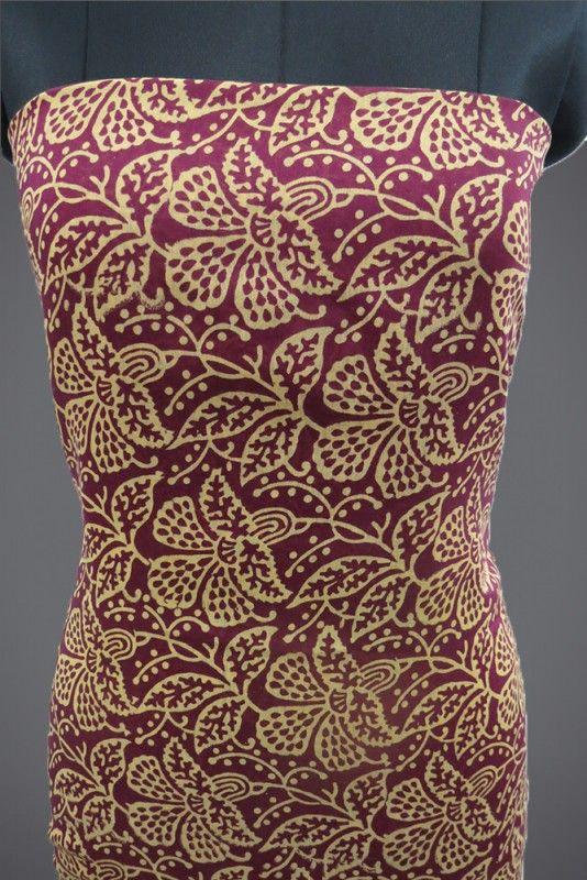 Block Print Chanderi Kurti Fabric