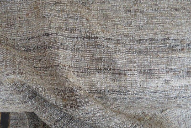 Handloom Natural Color Pure Silk Fabric