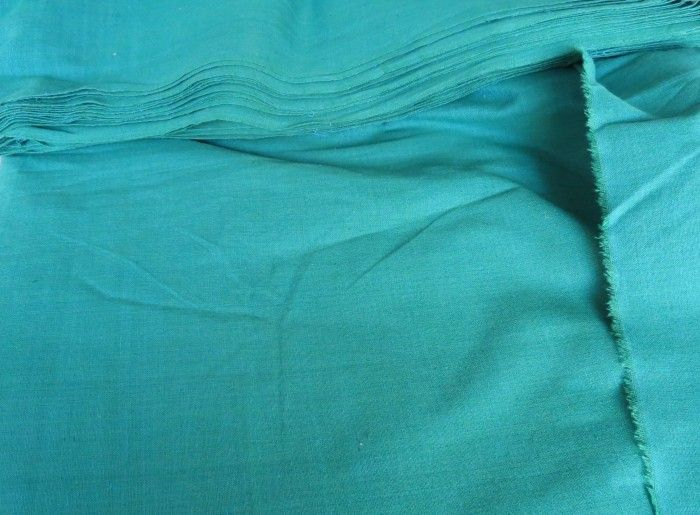 Green Handwoven Cotton Fabric