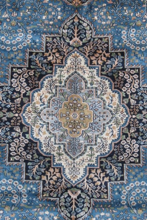 Antique Blue Hand Knotted Wool Rugs