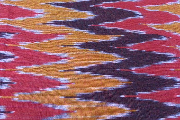 Tricolor Ikat Print