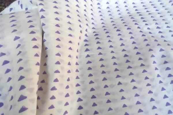 Violet Triangular Block Print Fabric