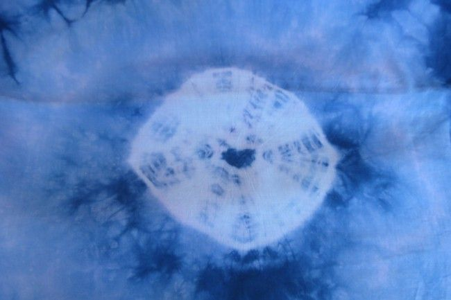 White And Blue Tie And Dye Fabric